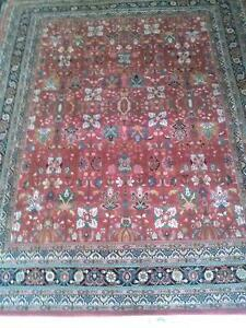 Hand Knotted Area Rug Brids-of-Paradise-Orchid Colors Wool pile 8'x10'