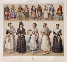 Espagne Costume traditionnel costume robe Majorque valence jardinier pasteur foulard dentelle