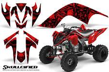 YAMAHA RAPTOR 700 06-12 GRAPHICS KIT CREATORX DECALS SKULLCIFIED RED