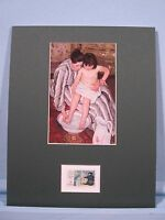 Mary Cassatt painting - The Bath &  her own stamp