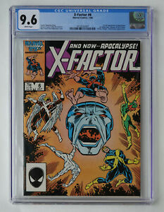 X-Factor #6 CGC 9.6 NM+ 1st Full Appearance of Apocalypse