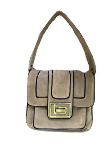 Xude Beige Suede Handbag