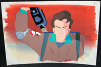 Real Ghostbusters Animation Cel w Painted Background - Peter Venkman - P582