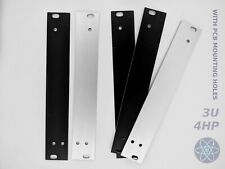 3U 4HP Eurorack blank front panel shielded Aluminium BLACK w. PCB mount holes