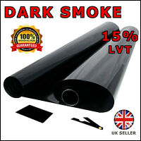 DARK SMOKE 15% CAR WINDOW TINT 6M x 76CM FILM TINTING NEW