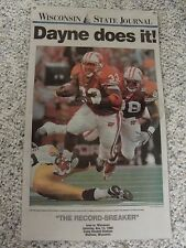 L#474 front page, Wisconsin State Journal, Ron Dayne breaks NCAA rushing record