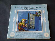 JEAN A MERCIER DISQUE ALBUM T1 NOS VIEILLES CHANSONS 1957