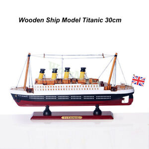 Collection Vintage Retro TITANIC Handcrafted Wooden Cruise Ship Boat Model 30cm