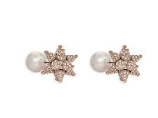 NIB $299 Atelier Swarovski Kalix Double Stud Pierced Earrings Palladium  5298568