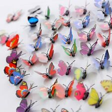 12Pcs Multicolor Magnet 3D PVC Butterfly Stickers For Girl, Kids, Baby Rooms