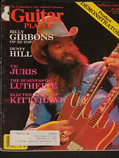 MAGAZINE Guitar Player 1981-02 Billy Gibbons ZZ Top Vintage Interview