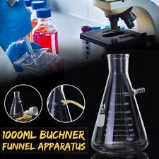 1000ml Büchnertrichter Filtertrichter Glas Filter Kit für Vakuum Absaugung Labor
