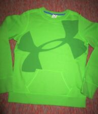 Under Armour Girls Youth XL Cotton Blend Kangaroo Pocket Lime Sweatshirt