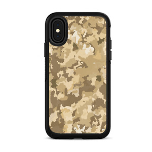 Skins for iPhone X Otterbox Defender Stickers - Brown Desert Camo camouflage