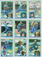 (9) 1983 Milwaukee Brewers signed cards Topps AUTO lot Moore Edwards Money Yost