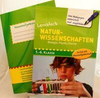 Lernblock Biologie Physik Chemie 5.-6.Klasse mit Hausaufgabenheft Nachhilfe /49