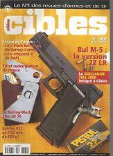 CIBLES N°362 BUL M-5 VERSION 22LR / FLASH BALL PRO / STOPPEUR DE SAPL / KEL-TEC