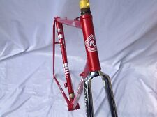 ROSSIN RECORD PEARL RED VINTAGE FRAME & FORKS EARLY 1980s -56CM C-T-C CAMPAGNOLO