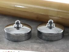 (2 pcs) Round Metal End Cap For 54mm Staircase Timber Handrail Mopstick