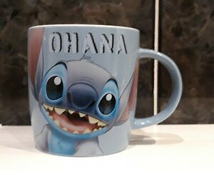 Disney Lilo & Stitch OHANA Ceramic Mug Tea Coffee Cup. Cute & Brand New