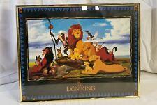 "Vintage Disney The Lion King Picture Wall Art Hanging Decor framed 20""×16"""