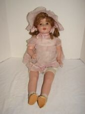 ANTIQUE VINTAGE DOLL COMPOSITION HEAD UNMARKED 26 IN SLEEP EYES OPEN MOUTH TEETH
