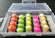 Supersoft Fluorescent Blobs, Lure Assortment, Box Selections,Trout Fishing Flies
