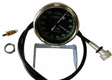 SMITHS 0-120M BLACK SPEEDOMETER WITH CABLE, BULB ROYAL ENFIELD, BSA, NORTON