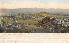 Asheville North Carolina Birdseye View Of City Antique Postcard K46757