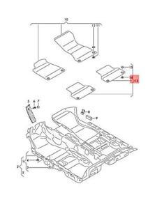 Genuine AUDI A5 S5 Coupe Sportback 1 Set Foot Mats Granite Grey 8W6864450JS1