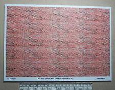 Red brick paper 1:32nd scale -Flemish bond (clean)  A4 sheet (297 x 210 mm)