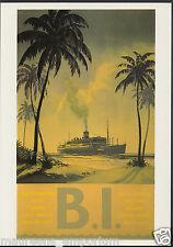 Shipping Advertising Postcard - P & O - B.I. Cruises, Artist Ing   A8270