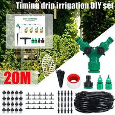 20M Micro Drip Irrigation System Adjustable Dripper Plant Self Watering Kits