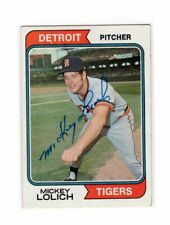 1974 Topps Mickey Lolich Auto Signed Card #9