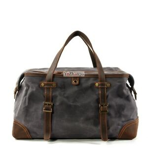 Waterpoof Oil Wax Canvas Duffle Gym Bag Travel Men Rucksack Outdoor Weekend bags