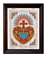 Sacred Heart - Dictionary Art Print Printed On Authentic Vintage Dictionary Book