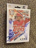 2021 Topps MLB Baseball Series 1 HANGER BOX 67 Cards Factory Sealed 🔥 - NEW!