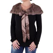 Sciarpe, foulard e scialli da donna tinta unita marrone in pelliccia