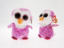 Peluche Glider Beanie Boos Originale TY 15 cm Pinguino Rosa Novità Settembre