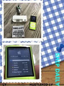 Genuine Apple iPod Nano A1285 8 GB Green 4th Gen MP3 Player  + CRADLE  - Working