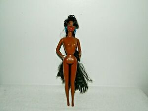 1991 Mattel Totally Hair Nude Naked Christie Barbie Doll Only