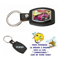 porte clé simili cuir auto personnalisé avec prénom au choix réf 03
