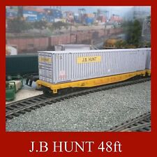 OO Gauge Rail Freight, Container Kit J.B Hunt 48ft OO Gauge x 5 Also 2 x FREE