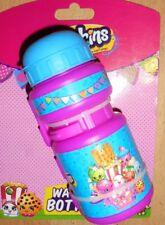 Shopkins Bicycle Bottle Kids Water Juice Drinks  Flip Top Pink Bottle Cage