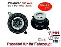 PG Audio 87 mm ,Koax 8,7 cm Coax Front Auto Lautsprecher Armaturenbrett
