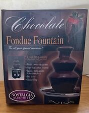 A 3-Tier Chocolate Fondue ~ Nacho Cheese Fountain Nostalgia Electrics