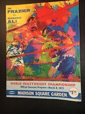 1971 Muhammad Ali Joe Frazier On Site Heavyweight Championship Program MSG