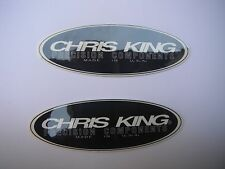 Chris King Bicycle Bike Components Decals Stickers Black Original Free Ship!!