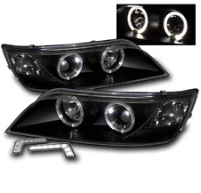 BLACK HOUSING PROJECTOR HALO HEAD LIGHT W/WHITE LED DRL SET FOR 1996-2002 BMW Z3