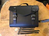 BRUNO Koffer Motorrad Moped Werkzeugkoffer Tasche Satteltasche schwarz leder HD